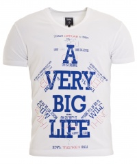 T-SHIRT BLUE BIG LIFE